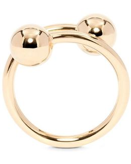 Small Double Ball Ring