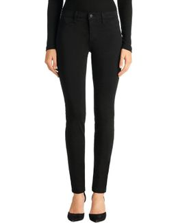 485 Luxe Sateen Mid-rise Super Skinny In Black
