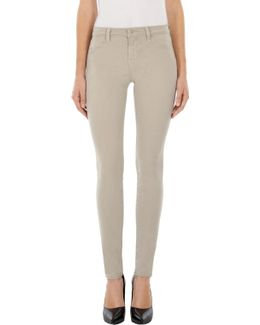 485 Luxe Sateen Mid-rise Super Skinny In Biscuit
