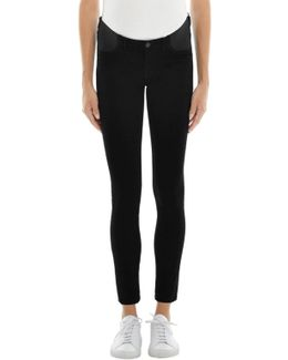 Mama J Luxe Sateen Mid-rise Super Skinny In Black