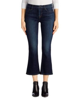 Selena Mid-rise Crop Boot Cut In Mesmeric