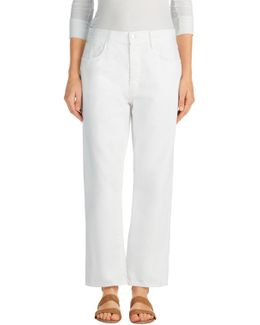 Ivy High-rise Crop Straight In White