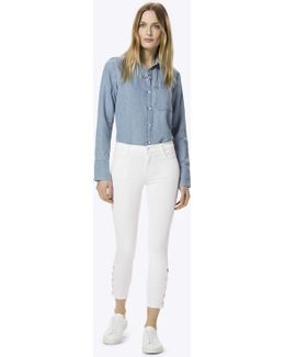 Suvi Photo Ready Mid-rise Utility Pant In White