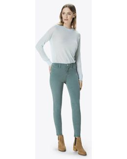 485 Luxe Sateen Mid-rise Super Skinny In Thicket
