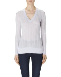 Allie Long Sleeve Sweater In Epoch