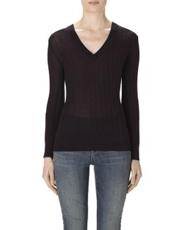 Allie Long Sleeve Sweater In Eventide