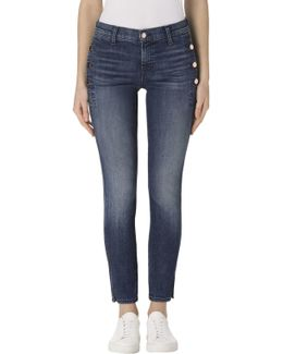 Zion Mid-rise Skinny With Button Pockets In Cover