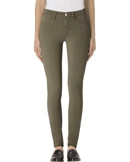 485 Luxe Sateen Mid-rise Super Skinny In Malachite