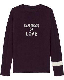 Gangs Of Love Jumper In Burgundy