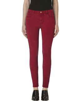 485 Mid-rise Super Skinny In Luxe Sateen Vermillion