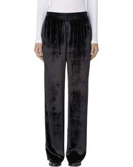 Ardon High-rise Wide Leg Pant In Black Velvet