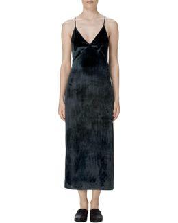 Blessing Midi Dress In Velvet Moorland