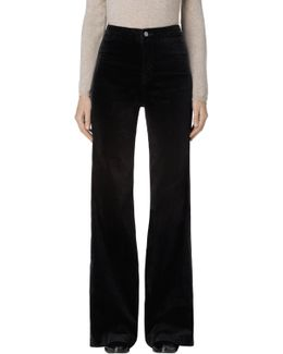 Isabella High-rise Tailored Flare In Black Velvet
