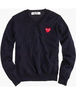 Play Comme Des Garçons V-neck Sweater