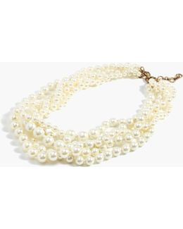 Pearl Twisted Hammock Necklace