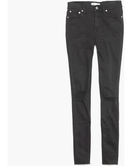 "Madewell 9"" High-rise Skinny Jean In Black Sea"