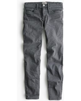 "8"" Toothpick Jean In Grey"