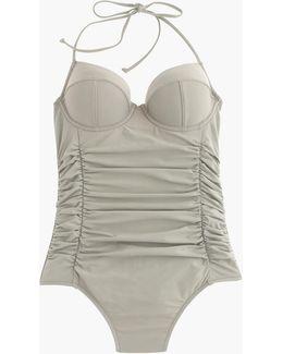 Halter Underwire One-piece Swimsuit