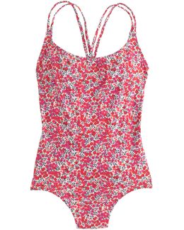 Strappy One-piece Swimsuit In Liberty Wiltshire Floral