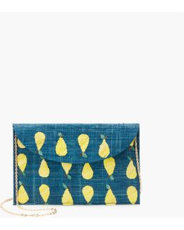 Kayu Hand-embroidered Envelope Clutch