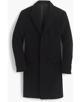 Ludlow Peak-lapel Topcoat In Italian Wool-cashmere With Thinsulate