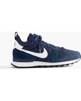 Nike Internationalist Mid Sneakers In Navy