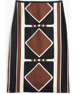 Collection Silk-wool Skirt In Ratti Diamond Print