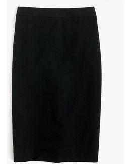 Tall Pencil Skirt In Seersucker