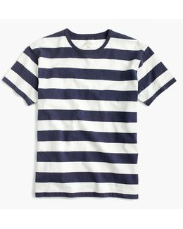 Tall Cotton T-shirt In Stripe