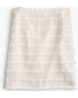 Petite Mini Skirt In Fringy Lace