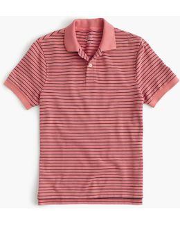 Classic Piqué Polo Shirt In Thin Stripe