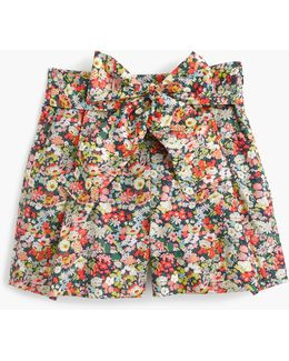 Tie-waist Short In Liberty Thorpe Floral