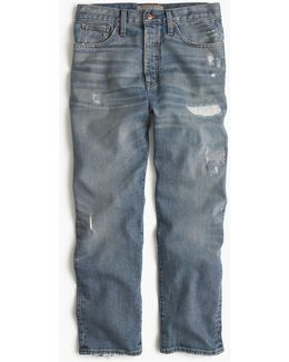 Point Sur Relaxed Boyfriend Jean With Distressing