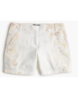 Limited-edition Chino Short In Paint Splatter