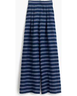 Collection Ultra Wide-leg Striped Pant