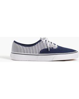 Vans Authentic Sneakers In Seersucker Stripe