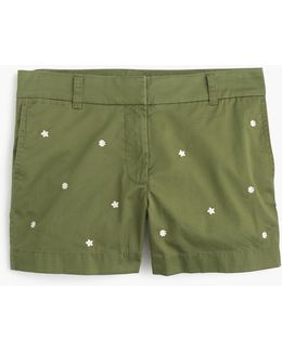 "Embroidered 4"" Chino Short"