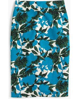 No.2 Pencil Skirt In Vibrant Floral