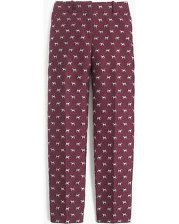 Cropped Pant With Terrier Critters