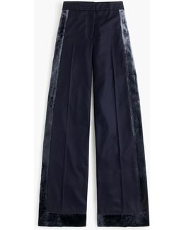 Collection Wide-leg Pant With Velvet