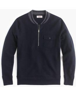 Half-zip Sweater In Colorblock Merino Wool