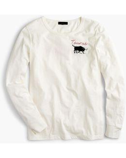 """Horoscope T-shirt In """"taurus"""""""