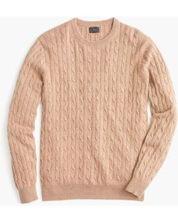 Italian Cashmere Cable Sweater