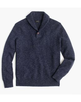 Lambswool Shawl-collar Pullover Sweater
