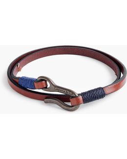 Caputo & Co. Leather Double-wrap Bracelet