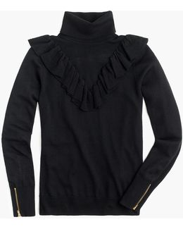 Tippi Turtleneck Sweater With Ruffles