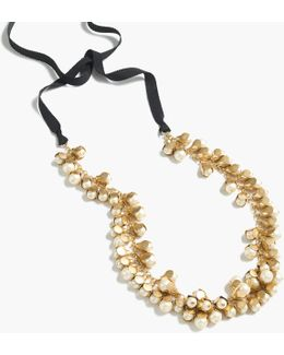 Pearl Rosebud Necklace