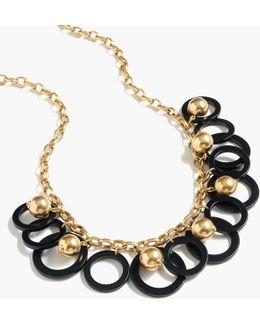 Beaded Hoop Necklace