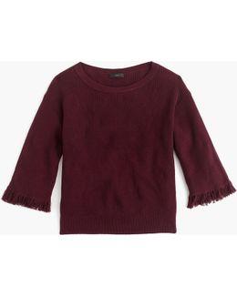 Crewneck Sweater With Fringe