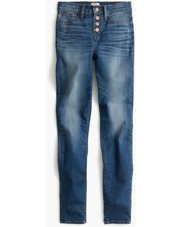 "Tall 9"" High-rise Toothpick Jean In Daly Wash With Button Fly"